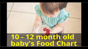 10 12 Months Old Baby Food Chart