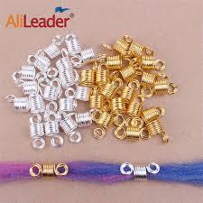 2019 <b>Alileader</b> Dreadlocks Beads Mixed <b>Golden Silver Aluminum</b> ...