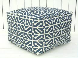 Blue square pouf, large ottoman, bean bag chair, childrens play table,  square