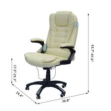 images staggering beige office chair incredible homcom massage computer executive ergonomic recliner that converts to a