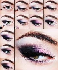 purple dark eye shadow makeup tutorial bmodish