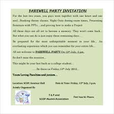 Sample Farewell Invitation Template 8 Download Documents In Pdf