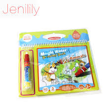 jenilily jn2326 1 children magic water drawing book with 1 magic pen cartoon coloring book kids water painting board in drawing toys from toys