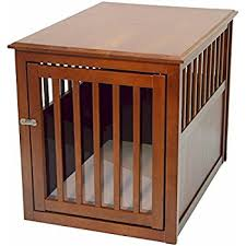 furniture pet crate. Crown Pet Products Crate Wood Dog Furniture End Table, Medium Size With Mahogany O