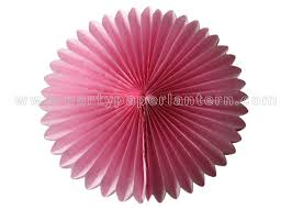 colorful petal shaped round tissue paper fan decorations customized diy paper fans