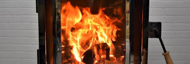 clean wood stove glass