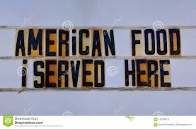 <b>Retro American</b> Food Sign On <b>Route 66</b>. Stock Photo - Image of ...