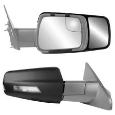 snap zap clip on towing mirror set