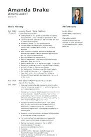 Leasing Agent Resume Samples Leasing Manager Resume If You Are Classy Leasing Agent Resume