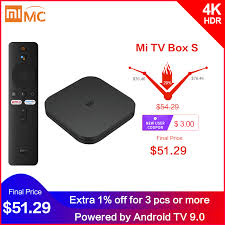 Original Global Xiaomi <b>Mi TV Box S</b> 4K Ultra HD Android TV 9.0 ...