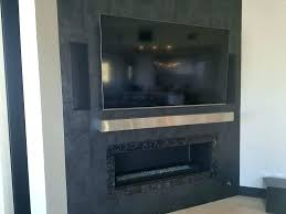 stainless steel fireplace wonderful mantel surround