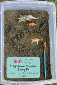 diy dinosaur excavation sensory bin perfect for palaeontologists to be