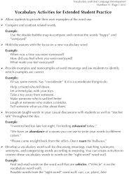 Activities Word Vocabulary Word Generation Building Rti