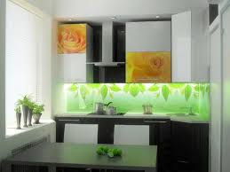 kitchen glass backsplash. Glass Kitchen Backsplash With Floral Pattern