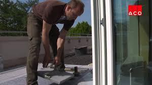 Einbau Einer Fassadenrinne Für Balkon Und Terrasse Youtube