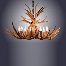 8 light mule deer antler chandelier awc 4 8