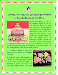 Creating ideas of cookie gift boxes with variety of biscuits along with  gift items by Melvin Carlson - issuu