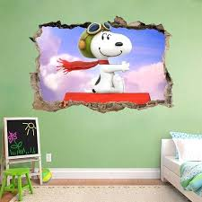 snoopy wall decal snoopy vinyl wall decals snoopy and woodstock wall decals