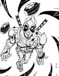 Small Picture Deadpool Coloring Pages Printable Comic Book Coloring Pages