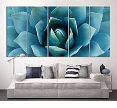 >amazon large wall art blue agave canvas prints agave flower  large wall art blue agave canvas prints agave flower large art canvas printing extra