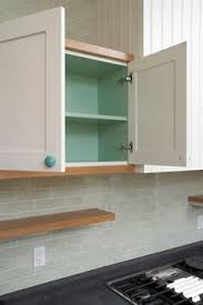 A Beautiful Color On The Inside Of A Solid Door Cabinet. Paint Inside  CabinetsInside Kitchen ...