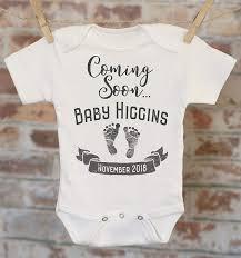 Design Your Own Baby Onesie Baby Coming Soon Pregnancy Reveal Onesie Reveal To Husband Pregnancy Announcement Customized Onesie Coming Soon Onesie