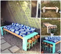 diy concrete cinder block garden bench 10 simple cinder block garden projects