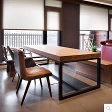 Image Furniture American Country Wrought Iron Dining Tables Loft Raw Wood Tables Vintage Office Table Desk Conference Tables Aliexpress American Country Wrought Iron Dining Tables Loft Raw Wood Tables