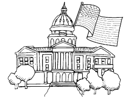 Small Picture Adult coloring page US Presidential Election White House 6