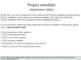 project scheduler resumes scheduler resume micri