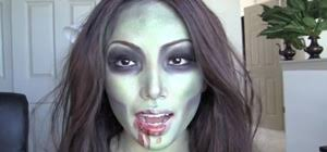create a simple y zombie makeup look for