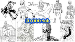 Don't forget to rate and comment if you interest with this spiderman coloring pages youtube ideas. Spider Man Special Pages Coloring For 20 000 Subscribers Ultra Speed 37 Spider Man Coloring Pages Youtube