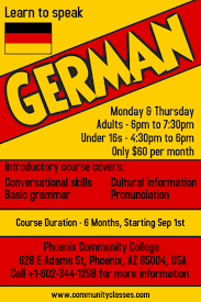 Basic Flyer Template Learn German Language Flyer Poster Template Postermywall