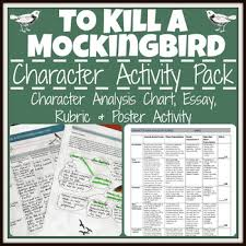 to kill a mockingbird characters analysis poster activity  to kill a mockingbird characters analysis poster activity essay