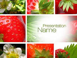 photo collage template powerpoint strawberries collage powerpoint template backgrounds 10812