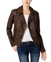celebrity pink celebrity pink juniors faux leather moto jacket bark large com