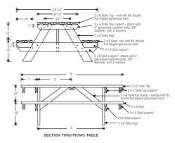 picnic table blueprints plans to build wood picnic table round picnic table plans pdf