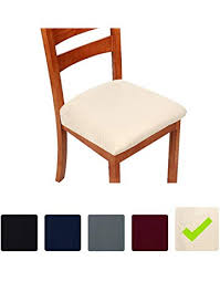 10 99 stretch chair seat covers for dining room beige set of 2 jacquard dining