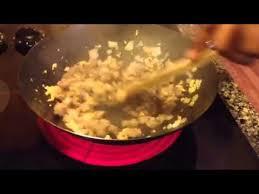 stir fry on a glass top stove