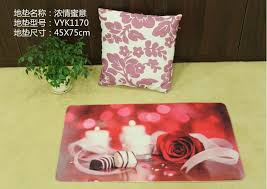 fashion personality married to new premises festive red mat mats cushion the marriage bed of roses heart shaped rug