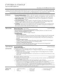 Resume Format For Experienced Mechanical Design Engineer Free