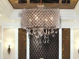 4 light chrome crystal chandelier living room