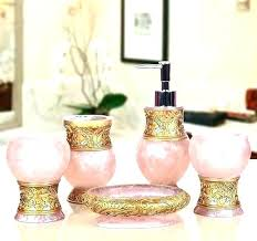 pink and gold bathroom decor sets light