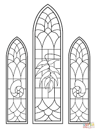 Church Stained Glass Coloring Patterns Coloring Pages Stained Glass