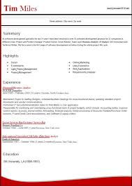 latest resume formats
