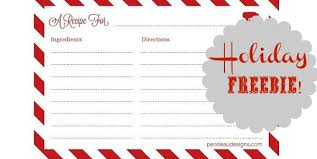 Printable Christmas Recipe Cards Free Printable Recipe Cards Celebrations At Home
