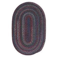 newport harbor dark multi 11 ft x 14 ft braided oval area rug
