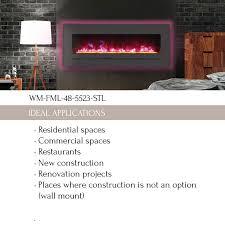 wm fml 48 5523 stl linear electric fireplace amantii electric fireplaces