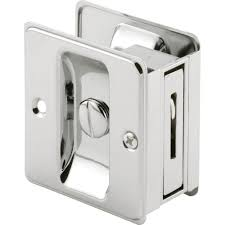 PrimeLine Chrome Plated Pocket Door Privacy Lock With PullN 6773  The Home Depot