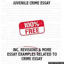 crime essay juvenile crime essay